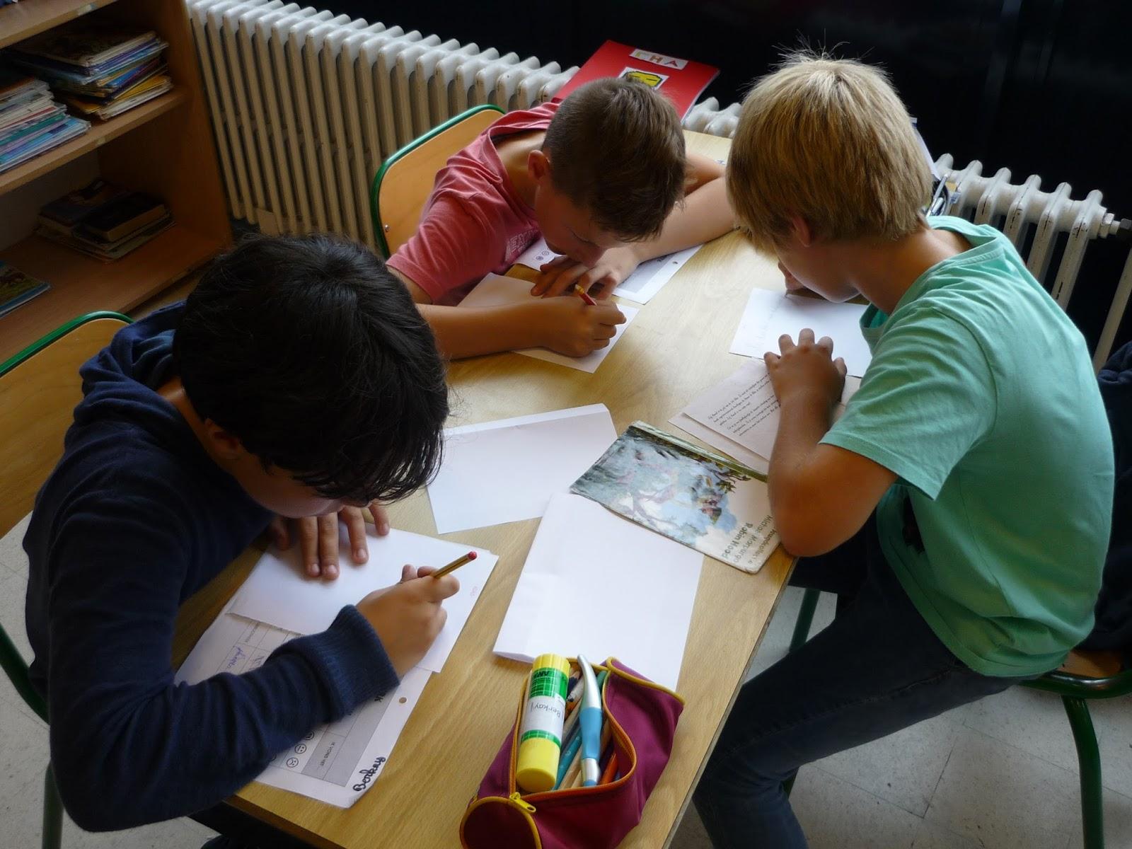 Sint jozefscollege 5de leerjaar: boeken hoeken werk