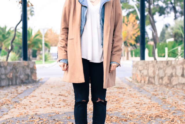 Camel coat look