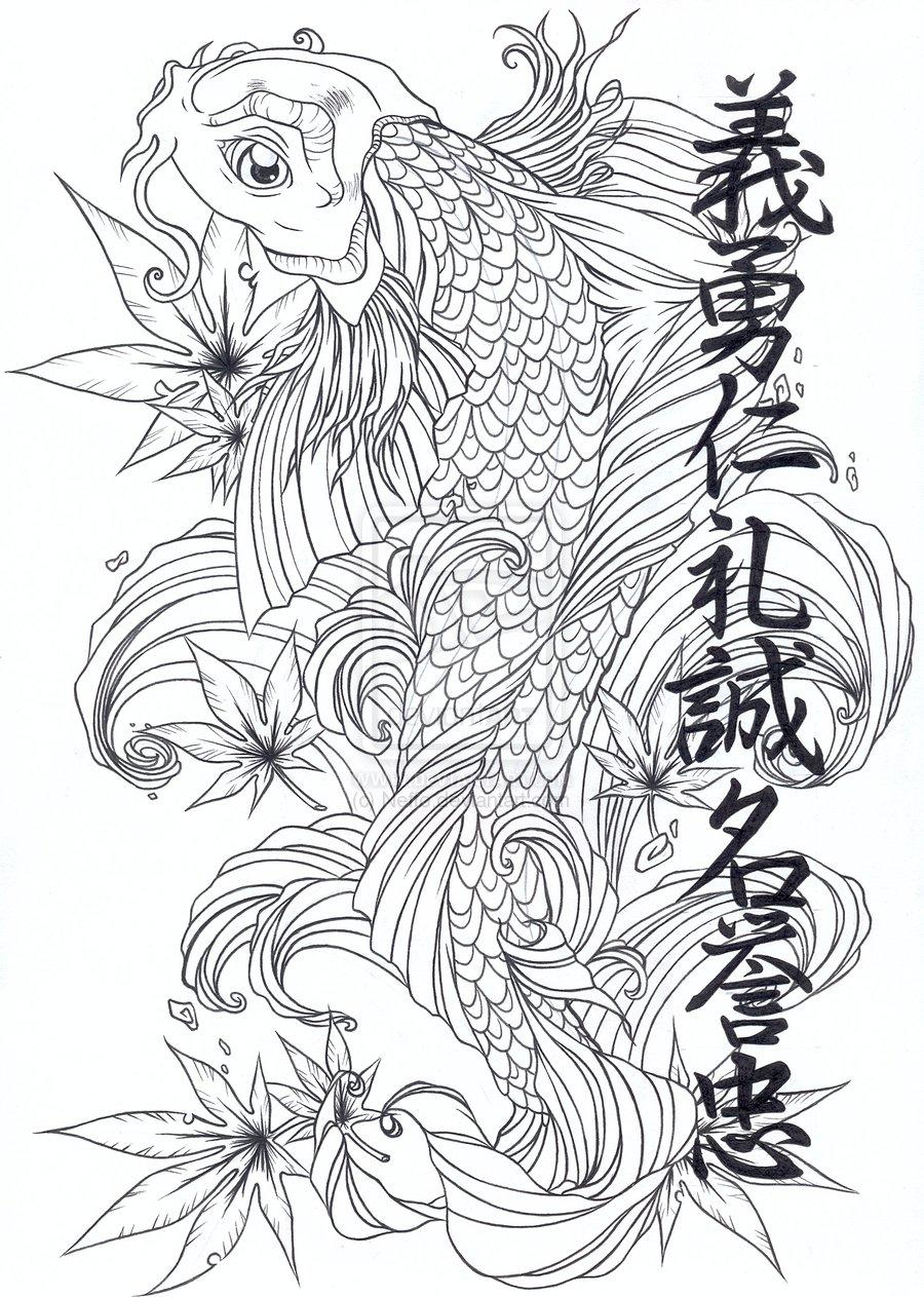 Japanese tattoos koi tattoo design for Japanese koi design