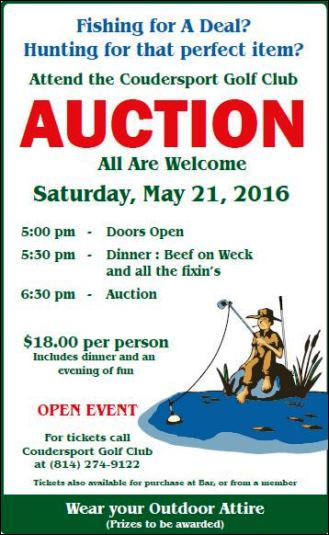 5-21 Coudersport Golf Club Auction