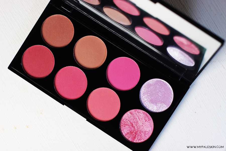 make up revolution, blush and contour palette, blusher, swatch, review, haul