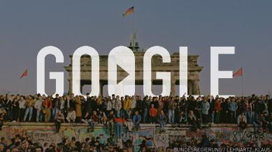 جوجل يحتفل بالذكرى ال25 لسقوط جدار برلين