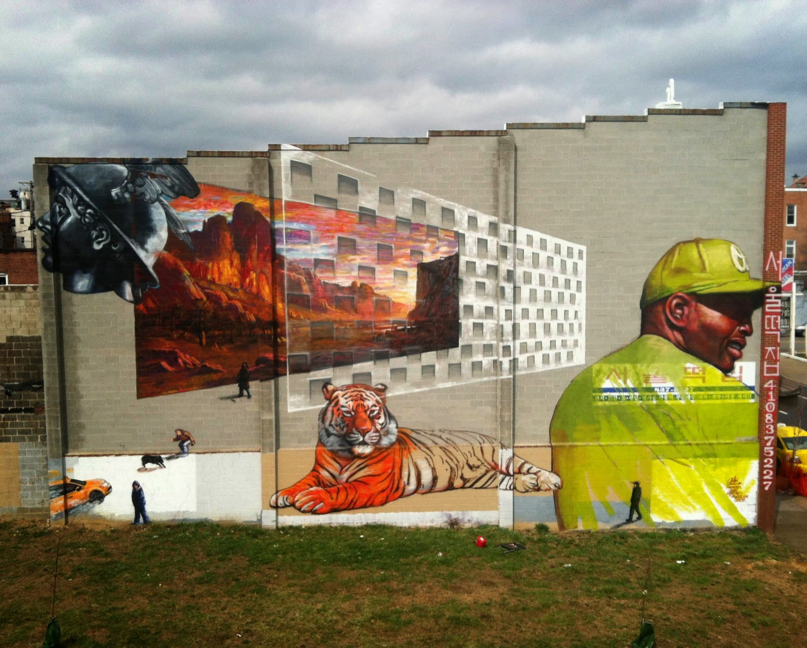 Here comes the finished wall for Open Walls Baltimore 2 by the legendary Gaia in the arts district of Station North.