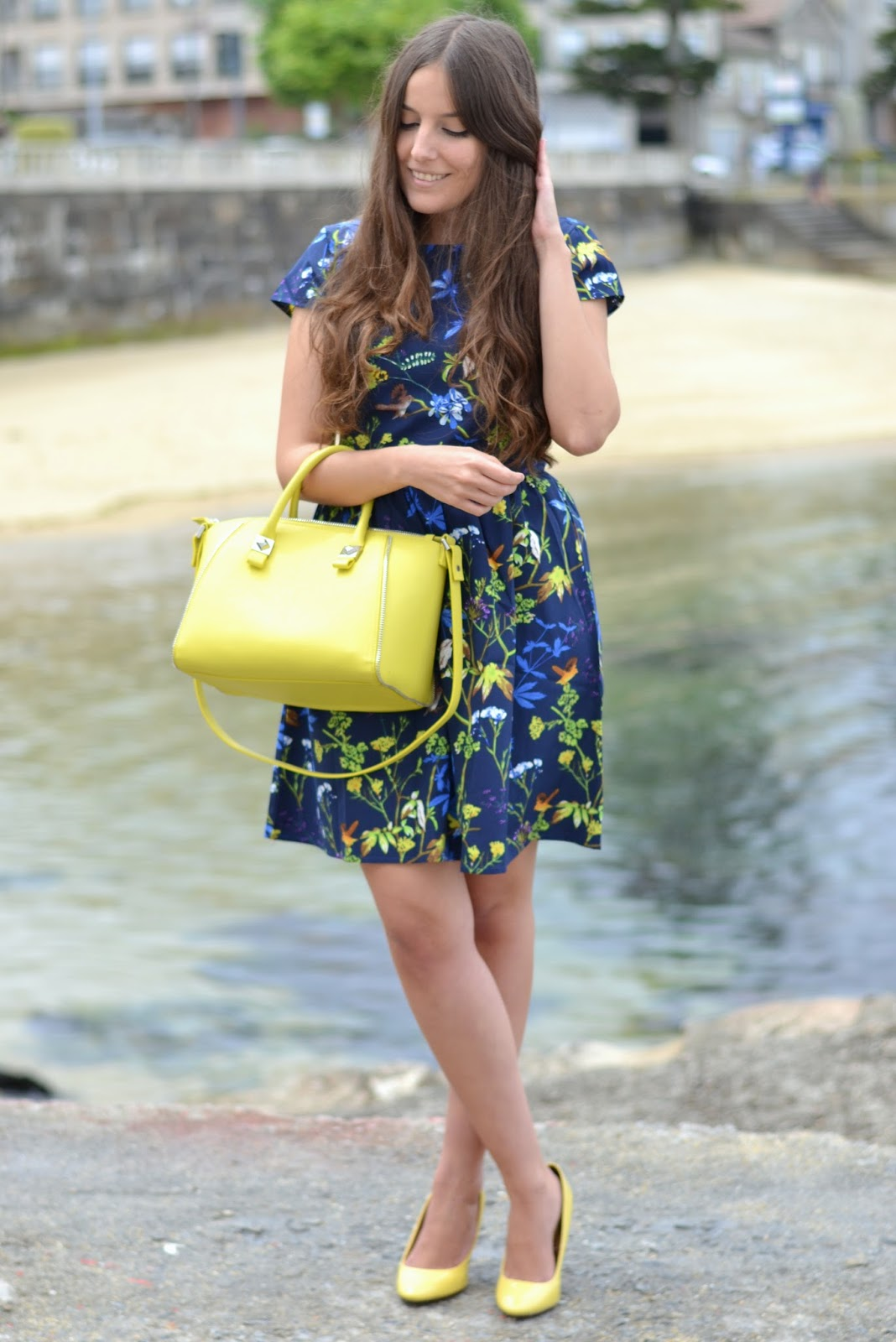 floral print sheinside dress