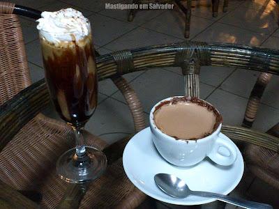 Café Terrasse: Café Glasse Terrasse e Chocolate Quente com Nutella