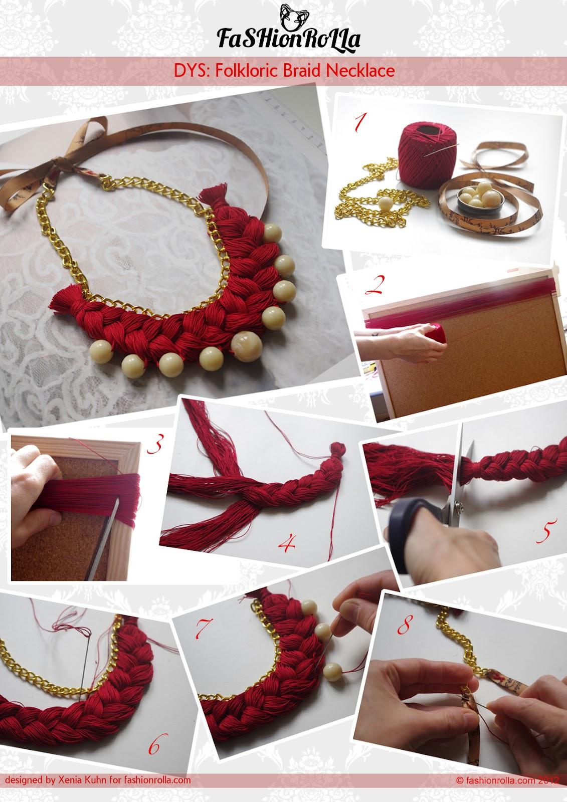 diy folkloric braid necklace. Black Bedroom Furniture Sets. Home Design Ideas