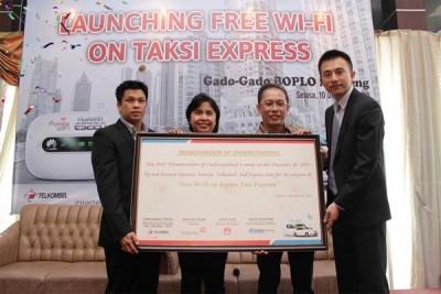 Gandeng Huawei, Taksi Express Sediakan Fasilitas Wi-Fi Gratis