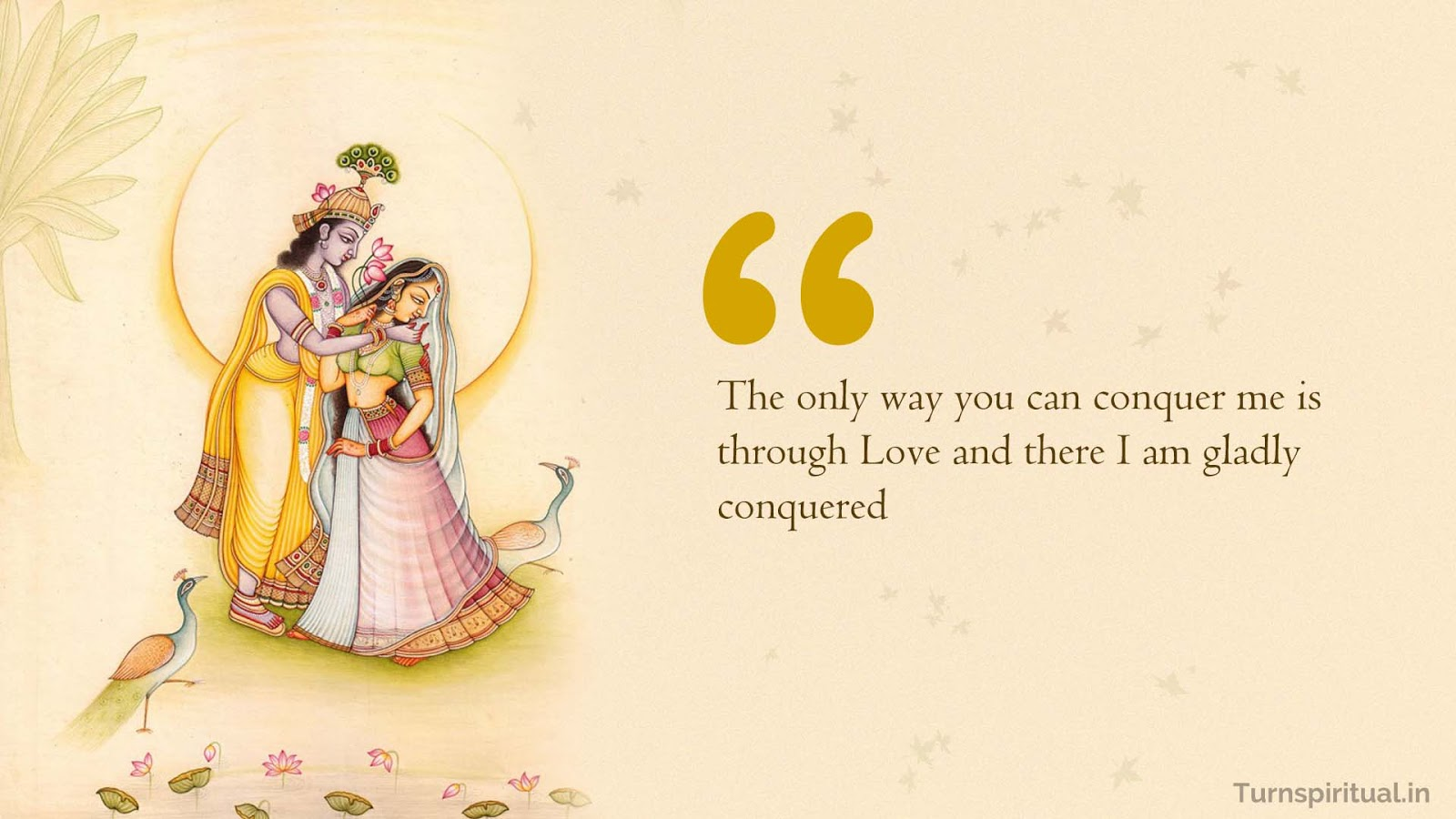 Lord Krishna Quotes Delectable 14 Quoteslord Krishna On Love From Bhagavadgita  Turnspiritual.in