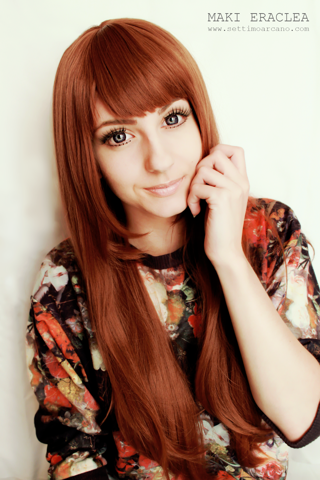 Natural Looking Brown Anime Wig: Nibutani Shinka Wig