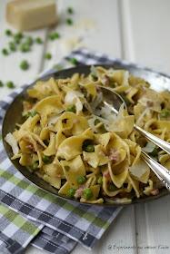 Experimente aus meiner Küche: Pasta mit Erbsen, Speck und Minze