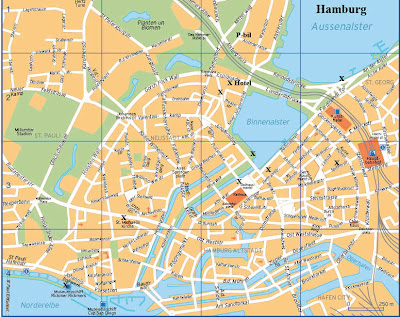 Hamburg map for tourists