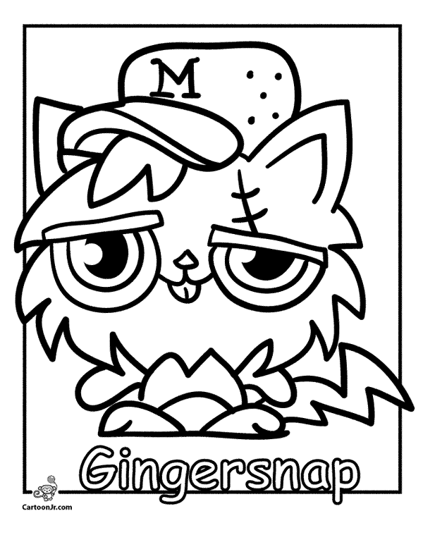 Free Coloring Pages Of Moshi Monsters Moshling Colouring Pages