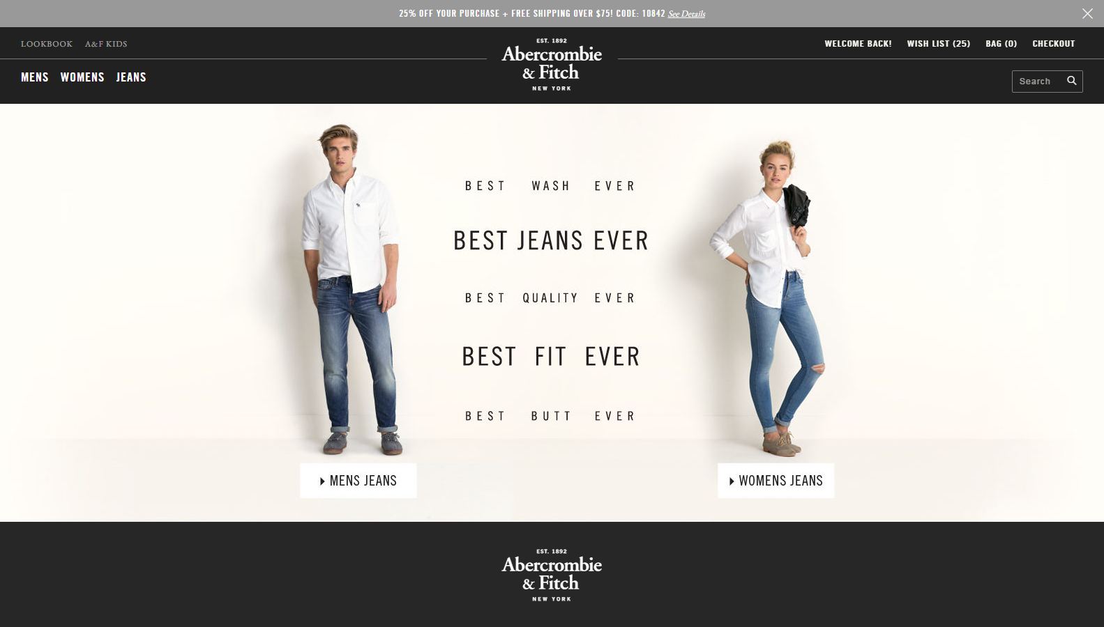 Shop womens clothing at Abercrombie & Fitch. You'll find womens clothes such as jeans, dresses, tees, and more.