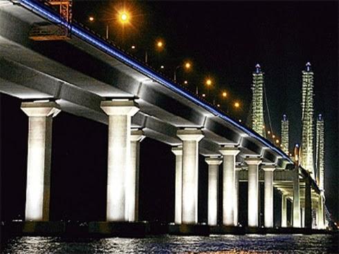 tol percuma, jambatan baru penang, tol percuma di pulau pinang, gambar jambatan baru penang, jambatan kedua pulau pinang