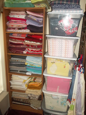 fabric storage organization sewplus.blogspot.com