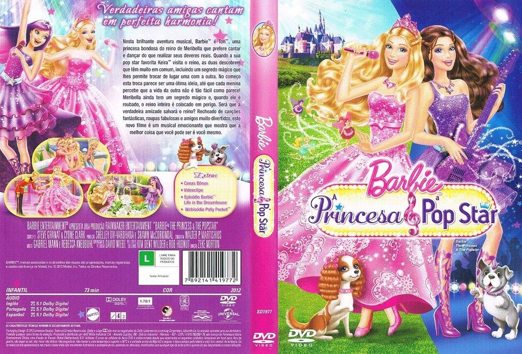 Ulo Original Barbie A Princesa E A Pop Star