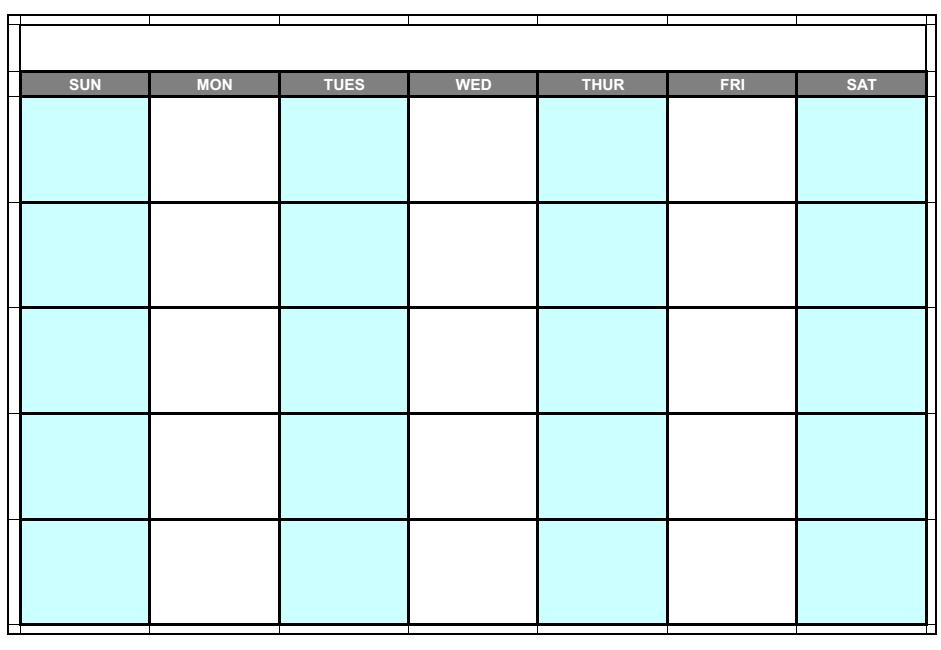 10 blank calendar grid collection 2015 to print