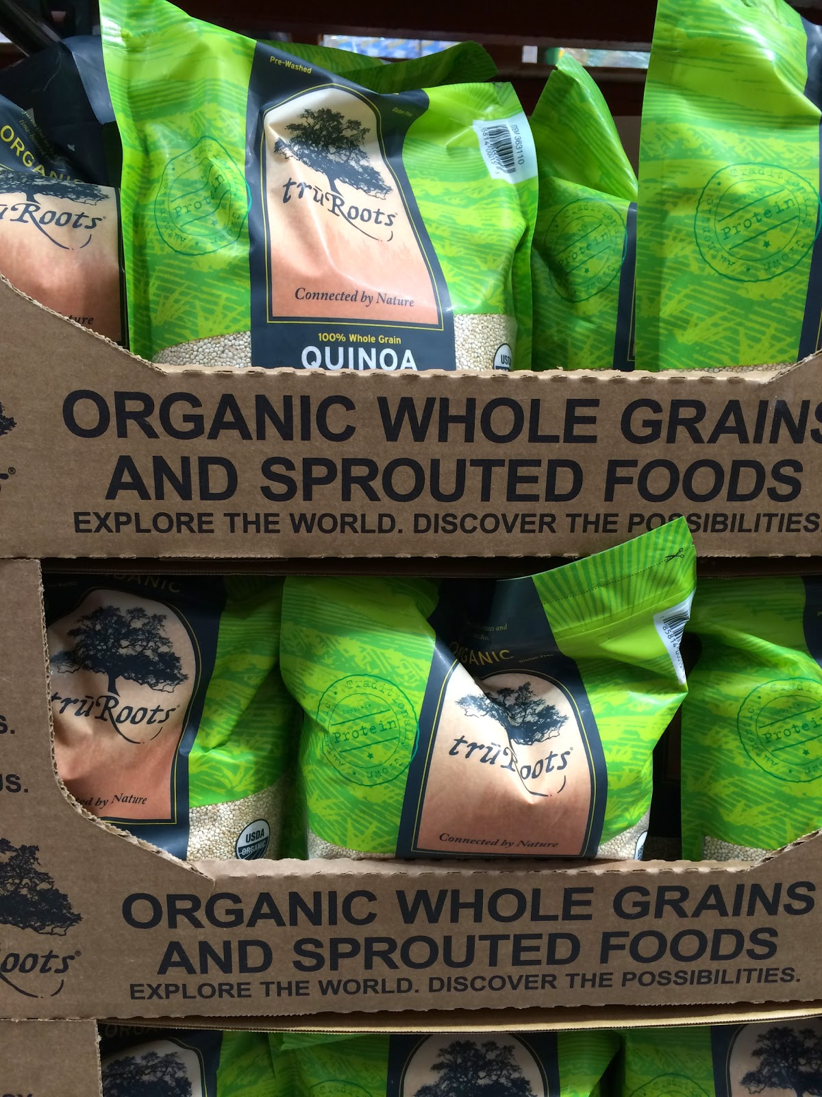 do you really know what you re eating costco coupons make good four pound bags of tru roots organic 100% whole grain quinoa 18 99 returned to the shelves of costco whole in hackensack after an absence of a few