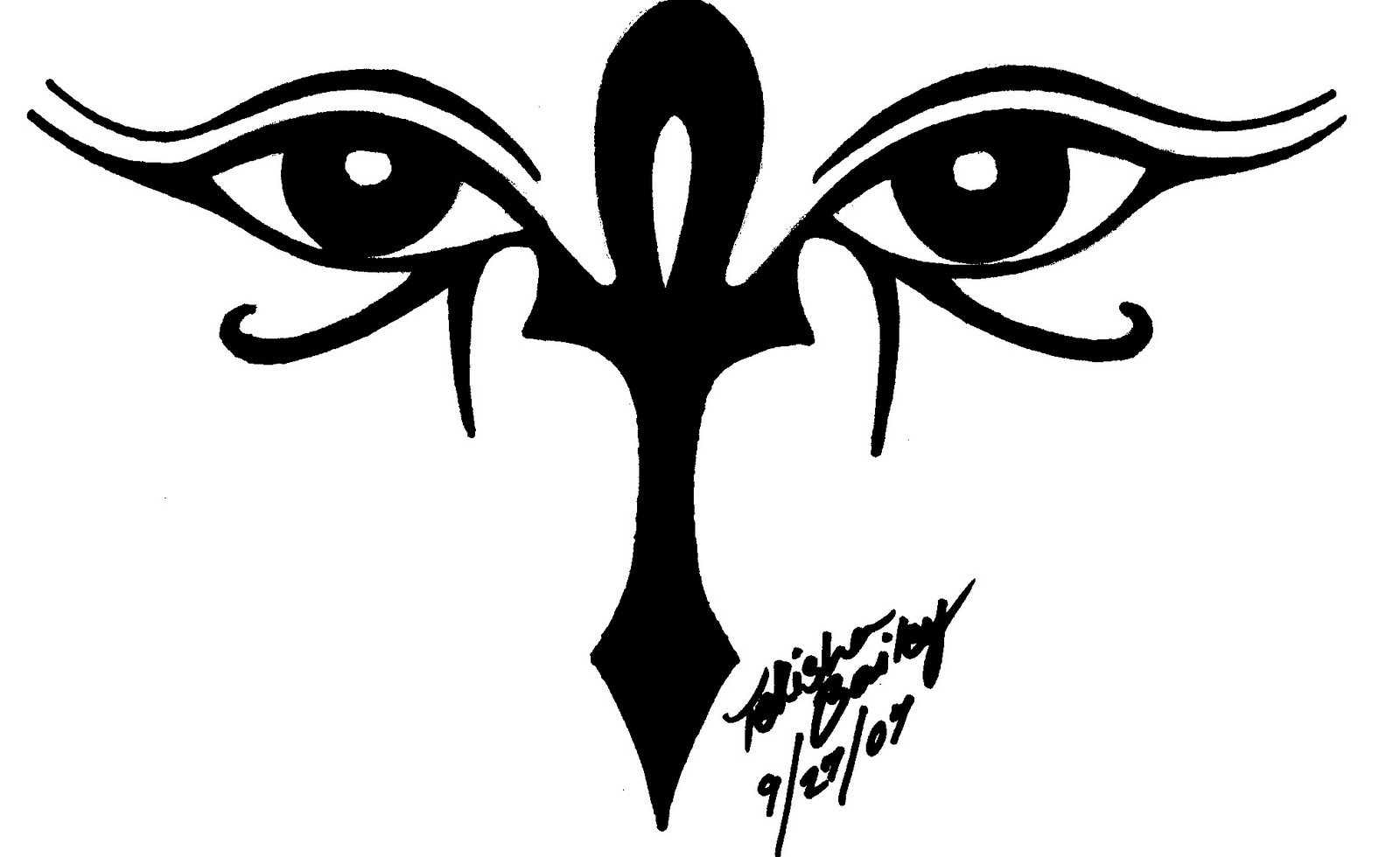 ankh and eye of horus
