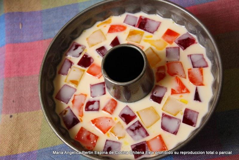 Gelatina mosaico cocina chilena - Mosaico de colores ...