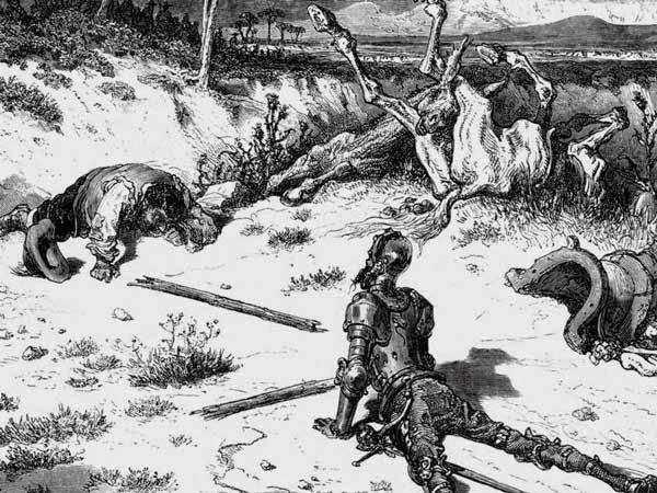Dom Quixote da Mancha, Sancho Pança, Miguel de Cervantes Saavedra, Rocinantes, Ruço, Gustave Doré