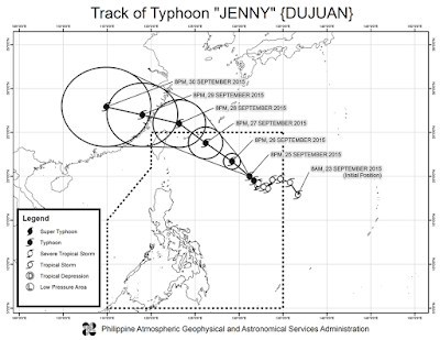 Bagyong Jenny Updates, Saturday - September 26, 2015