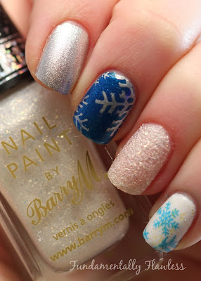 Christmas Snowflake Nail Art with Barry M Lady