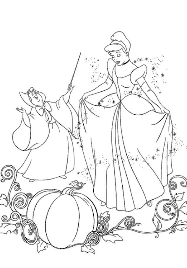 cinderela desenhos preto e branco para colorir