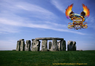 Desktop wallpapers Harley Davidson free Harley Davidson Fire Bird Logo in Stonehenge Rock Monument