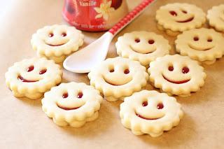 mini sablés sourire confiture