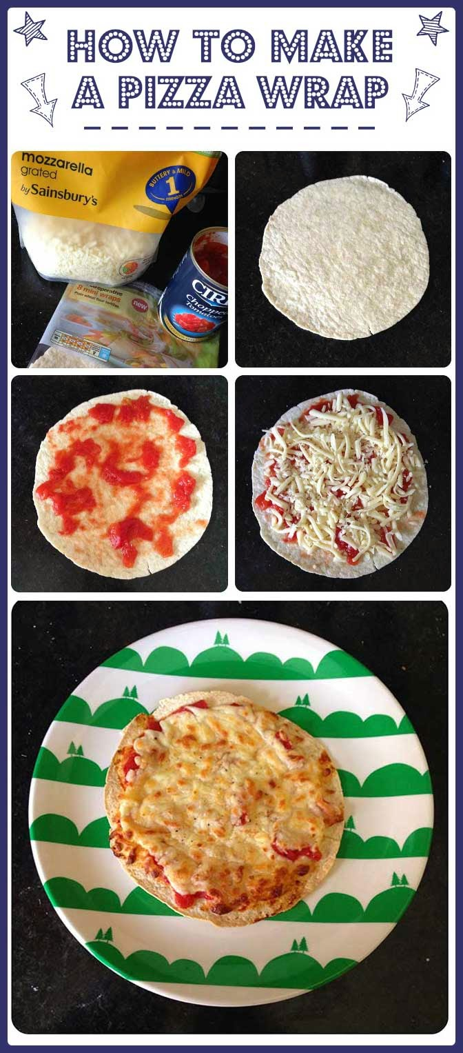 How to make a pizza wrap