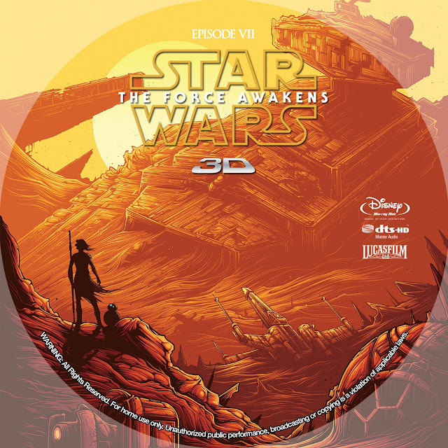 Label Bluray 3D Star Wars The Force Awakens