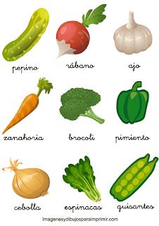 Memorama de verduras