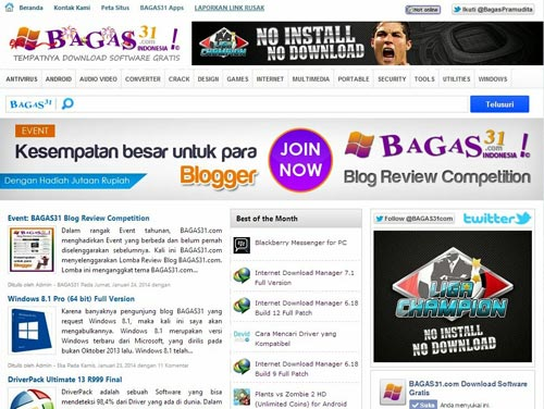 BAGAS31 blogger template
