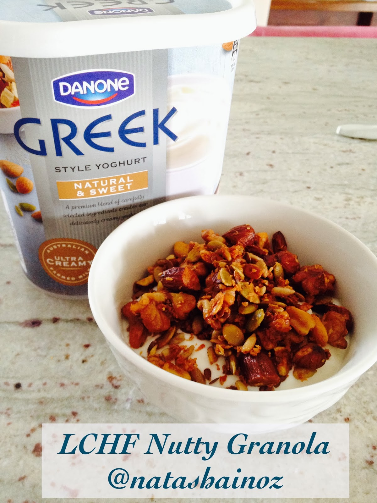 LCHF Nutty Granola Recipe, Natasha in Oz