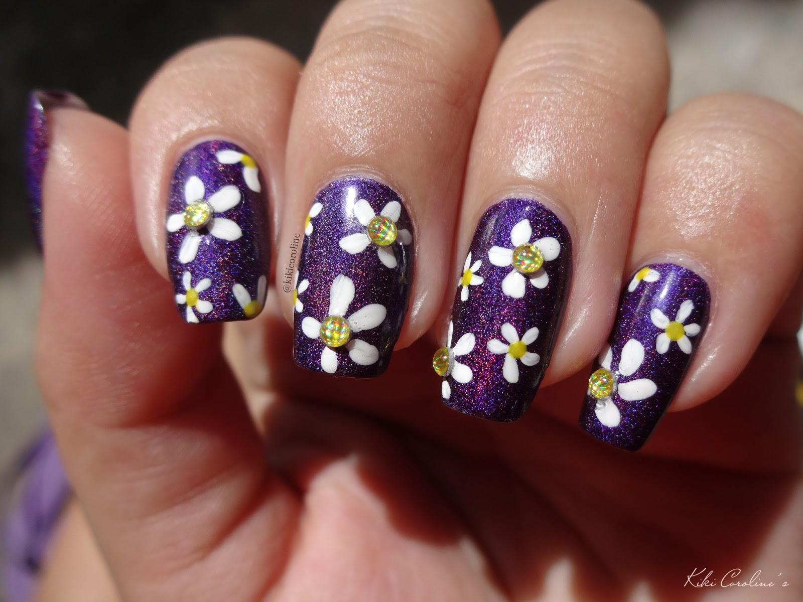 ... nail polish dan cat eye stone aku tidak menggunakan glitter pada nail