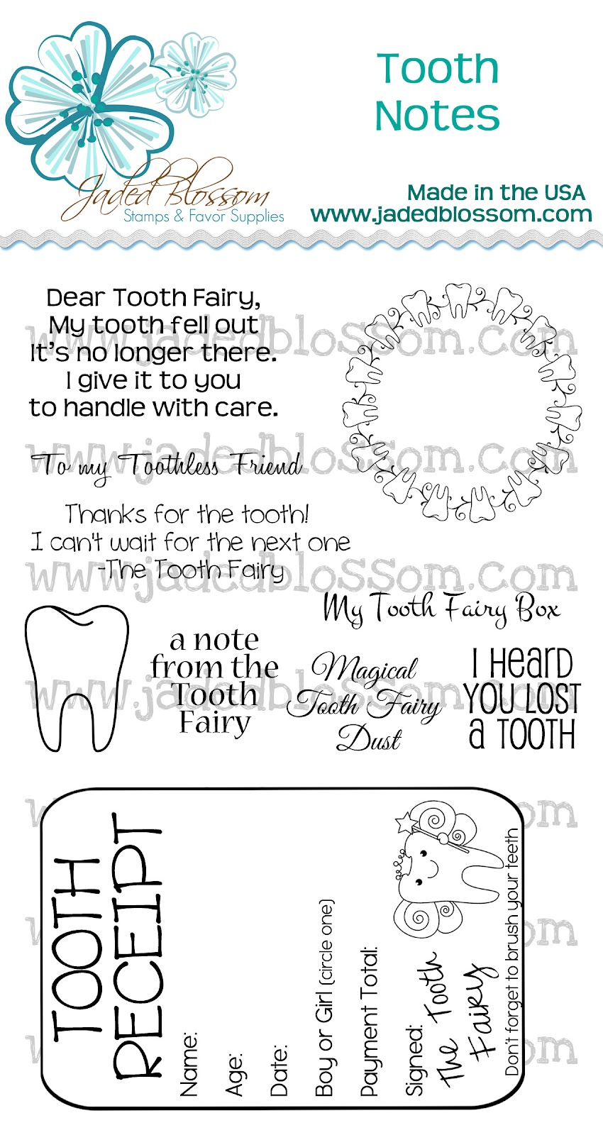 Tooth Fairy Receipt Printable