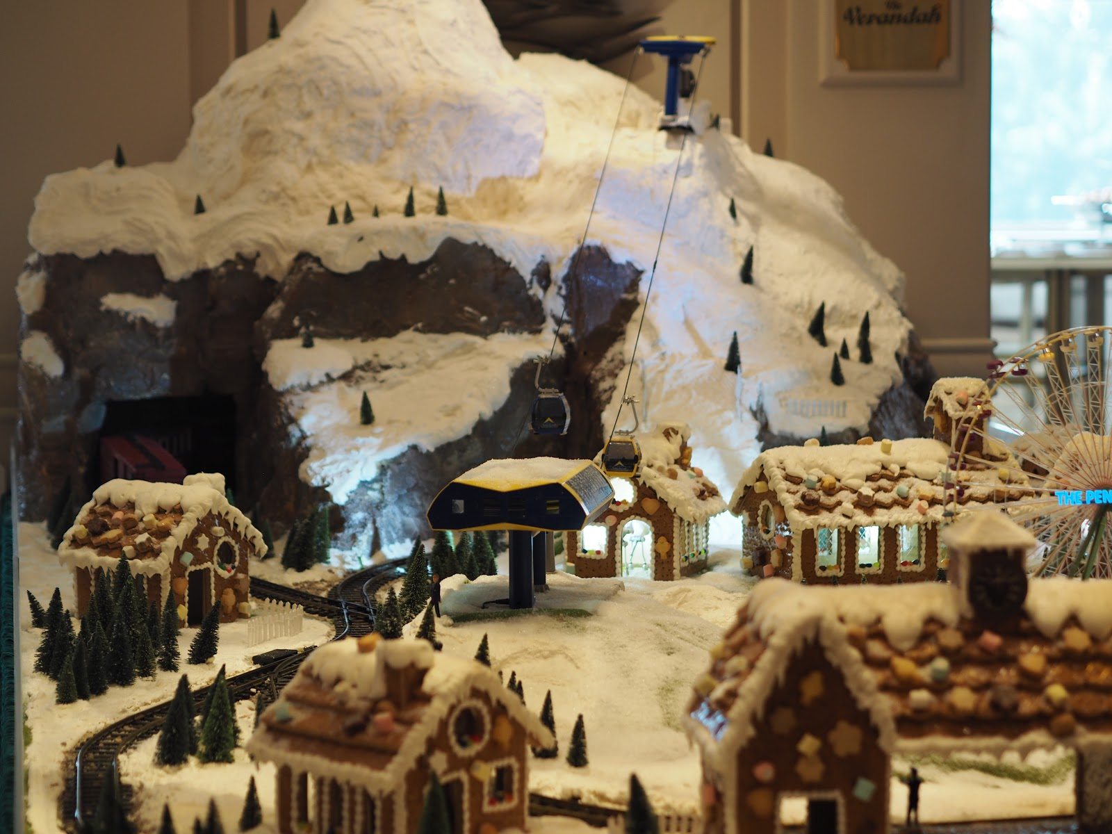 gingerbread snow village
