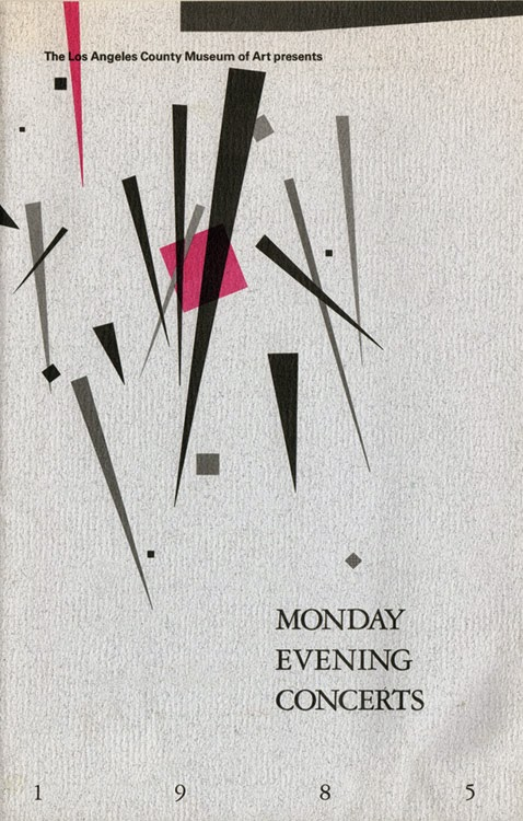 Monday Evening Concert program book cover 1985