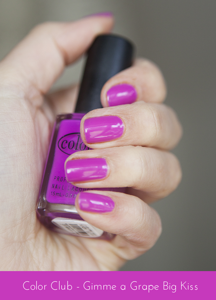 Nails of the Day - Color Club Gimme a Grape Big Kiss | Super Gorgeous