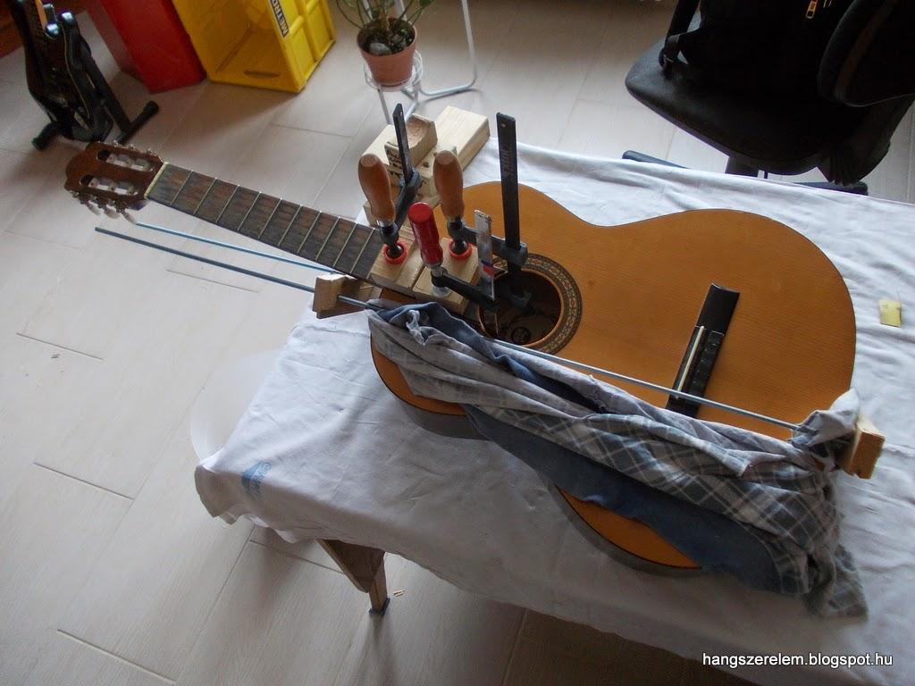 Cremona classical guitar neck reset Cremona klaszikus gitár nyak újraragasztás