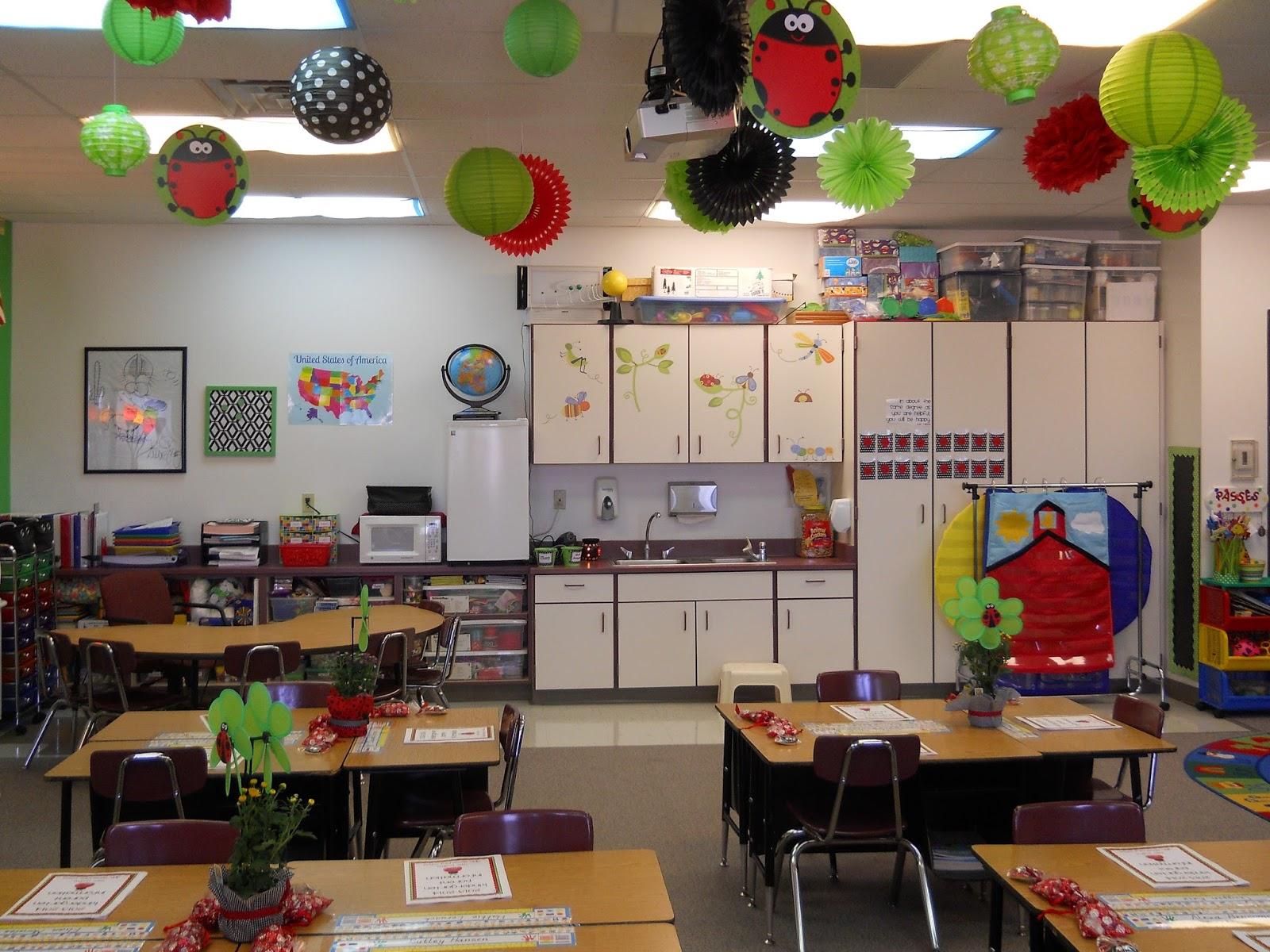 Classroom Decoration Ceiling ~ Nikkindergarten my  classroom ladybug theme