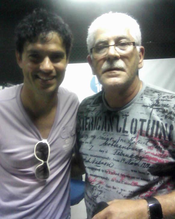 Eu e Jorge Vercilo em recente visita a Educativa - FM
