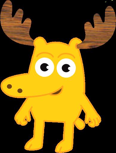 Cartoon Characters: Moose and Zee