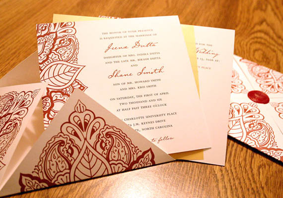 Silver Wedding Invitations Indian Wedding Invitations