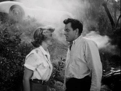 John Ireland and Dorothy Malone in The Fast and the Furious