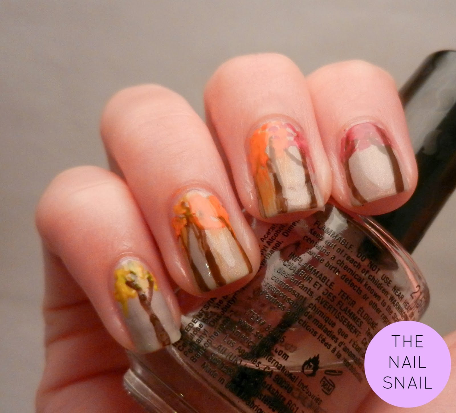 The Nail Snail: Fall Trees {50th Post!}