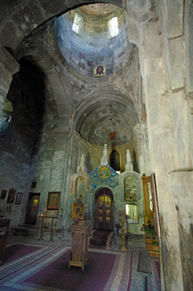 La Iglesia de la Trinidad de Gergeti en Georgia