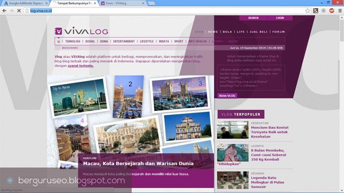 Cara Meningkatkan Traffic Web Blog dari VIVAlog