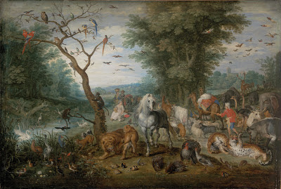 Paysage paradisiaque avec des animaux Jan Breughel II